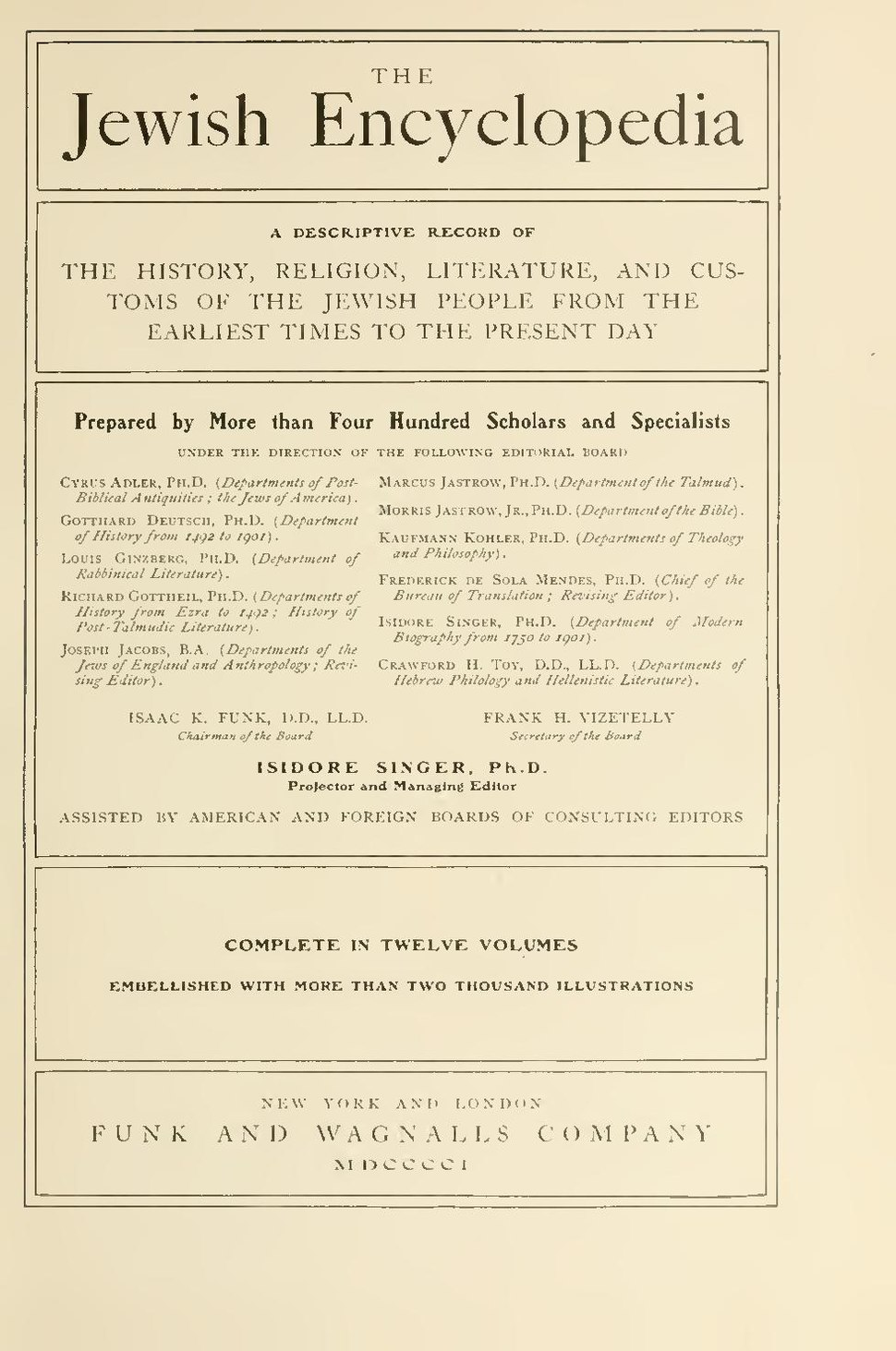 Jewish Encyclopedia Cover Page