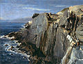 Johann Georg Grimm 1875, Costa do mar em Nervi.jpg