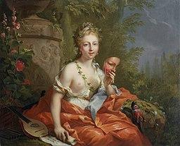 Johann Heinrich Tischbein - The Nine Muses - Thalia (Comedy), 1771
