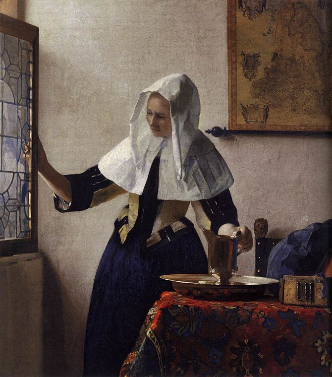 Johannes Vermeer - Young Woman with a Water Ju...