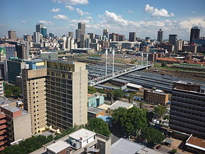 Architecture of Johannesburg - Panorama of the central business district of Johannesburg, South Africa.