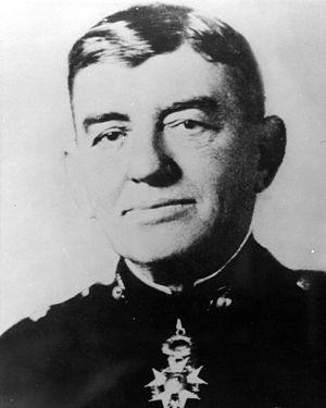 John A. Lejeune - Lejeune with his insignia of commander in the French Légion d'honneur.
