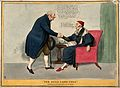 John Bull shaking the hand of a sick man; satirizing Welling Wellcome V0011351.jpg
