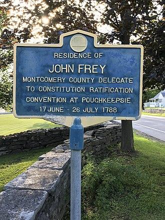 Frey House - Historic Marker for John Frey