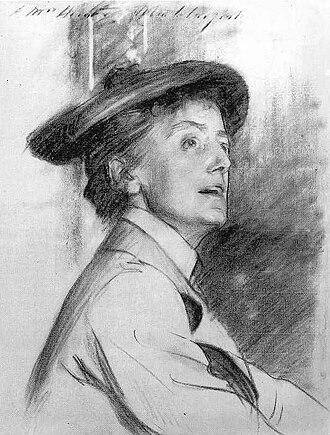 Ethel Smyth - Portrait of Ethel Smyth, 1901, John Singer Sargent