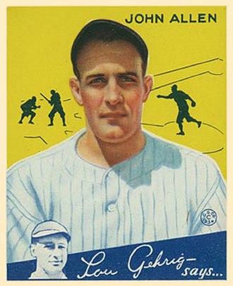 Johnny Allen (baseball) - Allen in 1934