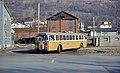 Johnstown ACF-Brill trolleybus 734 at Coopersdale terminus, 1967.jpg