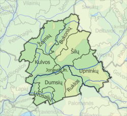 Map of Jonava district municipality