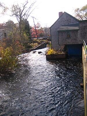 Jones River - Image: Jones River fish ladder
