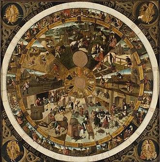 Calendar Clock Face - Image: Joost Massys Clock face Louvain