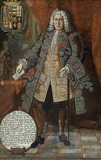 José Antonio de Mendoza, 3rd Marquis of Villagarcía - Image: José Antonio de Mendoza Caamaño y Sotomayor