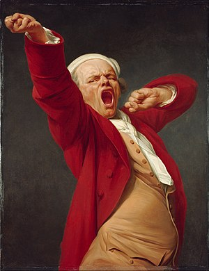 Yawn - Image: Joseph Ducreux (French) Self Portrait, Yawning Google Art Project