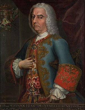 Juan Francisco de Güemes, 1st Count of Revillagigedo - Image: Juan Franciscode Guemesy Horcasitas