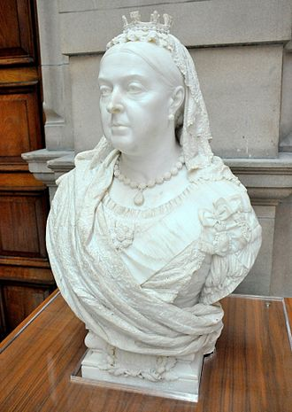 Golden Jubilee of Queen Victoria - Jubilee bust of Queen Victoria. Francis John Williamson, 1887. Kelvingrove Art Gallery and Museum, Glasgow, UK