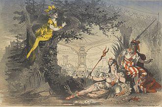 Féerie - Poster for an 1876 production of La Biche au bois