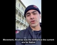 Bestand: Julian Brave NoiseCat op Alcatraz Island voor Native American Heritage Month 2019.ogv