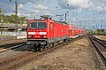 Köln Messe Deutz DB 143 168 met RB 27 naar Köln Hbf (29633802674).jpg