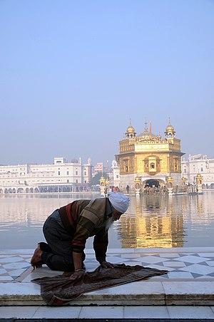 Selfless service - Kar Sewa at Durbar Sahib.