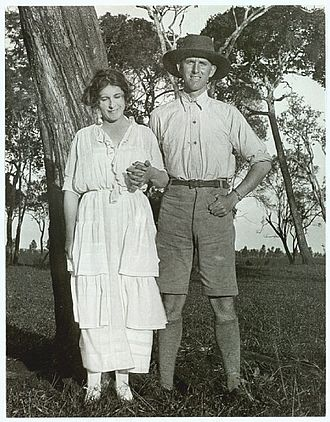 Karen Blixen - Karen Blixen with her brother Thomas on the family farm in Kenya in the 1920s