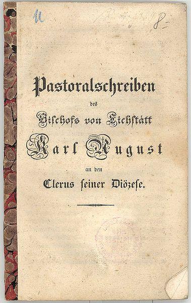 File:Karl August von Reisach Pastoralschreiben 1842.jpg