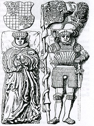 Charles I, Duke of Münsterberg-Oels - Drawing of the tomb of Charles I and his wife