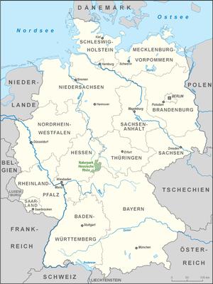 Hessian Rhön Nature Park - Location of the Hessian Rhön Nature Park