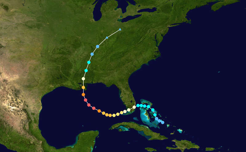 The Path of Hurricane Katrina