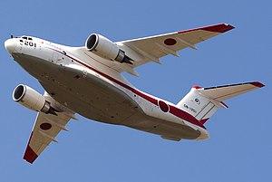 Kawasaki C-2 - The first prototype C-2 in flight, 2014