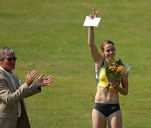 Kelly Sotherton - Kelly Sotherton at an athletics meeting in The Netherlands, 2007