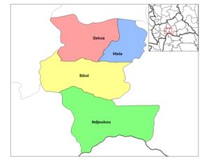 Dekoa - Image: Kemo sub prefectures