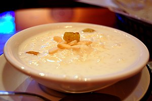 Pudding - Kheer, from India, here made with rice