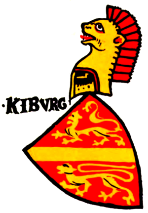 Kyburg family - Arms of the Grafen von Kyburg in the Zürich armorial, c. 1340