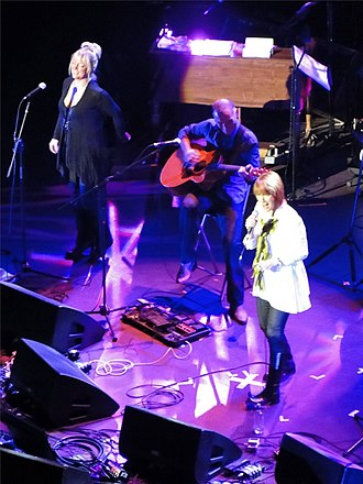 Kiki Dee - Kiki Dee (right) performing at London's Royal Albert Hall, October 2009, in aid of the PRS for Music  (formerly the Performing Right Society) for Music Members' Benevolent Fund.