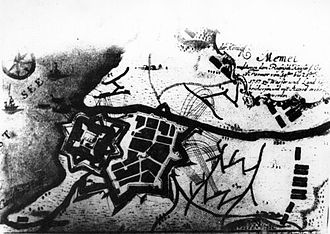 Klaipėda Castle - Plan of Klaipėda Castle in the 18th century