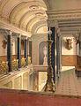 Klein-Glienicke, Jagdschloss, Eingangsraum, Lithografie nach Ferdinad von Arnim, nach 1862, Farbscan.jpg