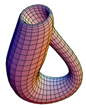Fiber bundle - The Klein bottle immersed in three-dimensional space.