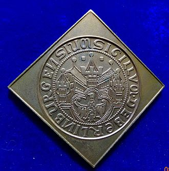 Coat of arms of Berlin - Image: Klippe Medal Town Seal Berlin 1253, obverse
