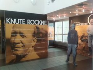 Matfield Green, Kansas - Knute Rockne memorial at Kansas Turnpike Authority rest stop (2009)