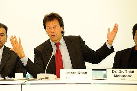 Konferenz Pakistan und der Westen - Imran Khan.     Pakistan Prime Minister Imran Khan