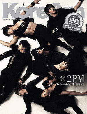 2PM - On the cover of KoreAm, August 2010
