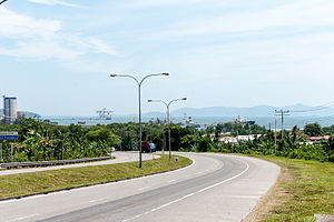 Sepanggar - Highway facing the Sepanggar Bay.