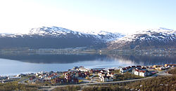 View of the village (seen from Tromsøya)