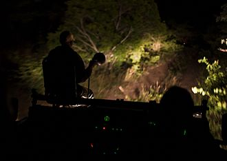 Safari - A night drive in the Kruger National Park in South Africa