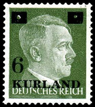 Courland Pocket - Stamp used in Courland pocket (1945)