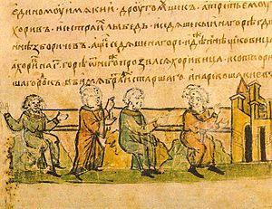 Kyi, Czech, Khoryv and Lubed in der Radziwiłłchronik