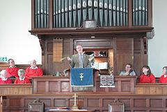 L'Assembliée d'Jèrriais Sèrvice Chapelle Ebenhezer La Trinneté Jèrri 2011 09