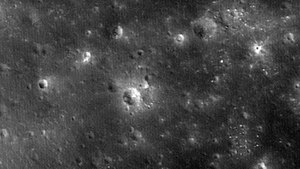 Sundman (crater) - Image: LADEE After Impact LRO 20141028
