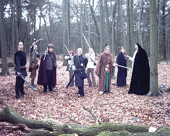 Formations in LARP Training: Sternenfeuer group from Germany Recorded...
