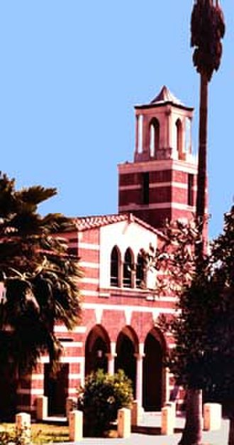 Woodbury University - The Los Angeles Times Library at Woodbury University, formerly the Villa Cabrini Academy chapel.