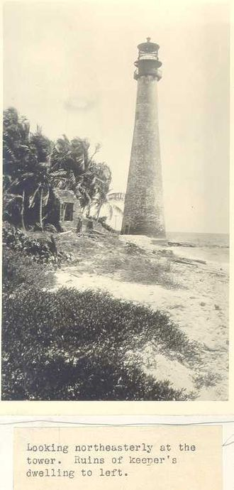 History of Miami - Cape Florida Lighthouse, the oldest-standing structure in Miami, built in 1825